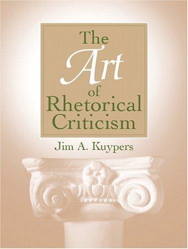 Art of Rhetorical Criticism   2005 edition cover