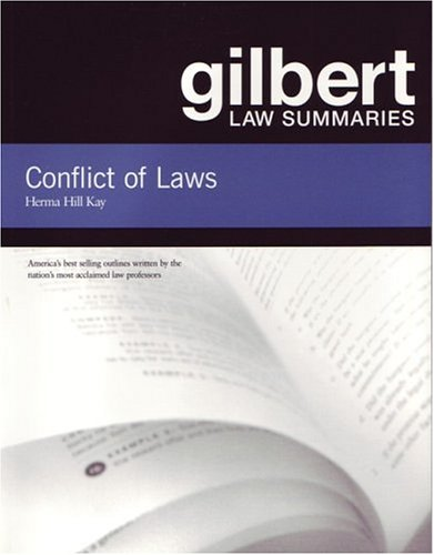 Gilbert Law Summaries on Conflict of Laws  18th 2004 (Revised) edition cover