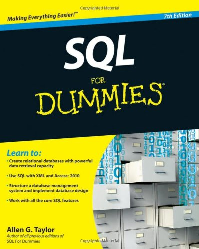 SQL for Dummies  7th 2010 edition cover