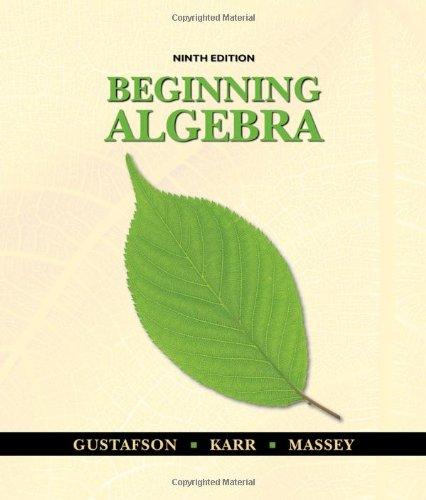 Beginning Algebra  9th 2011 edition cover