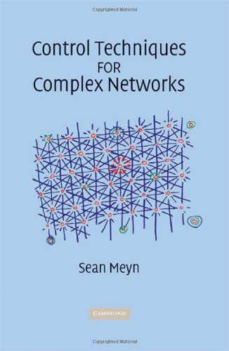Control Techniques for Complex Networks   2008 9780521884419 Front Cover