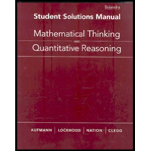 Mathematical Thinking and Quantitative Reasoning   2008 9780618777419 Front Cover