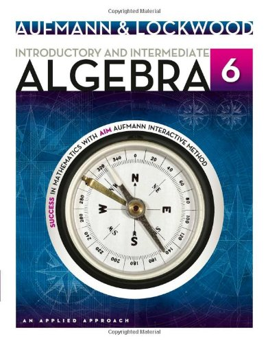 Introductory and Intermediate Algebra: An Applied Approach 6th 2013 edition cover