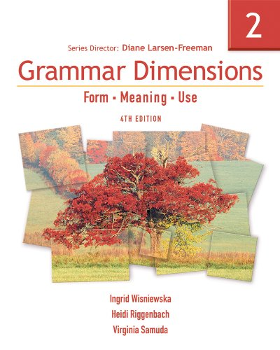 Grammar Dimensions Form, Meaning, Use 4th 2007 edition cover