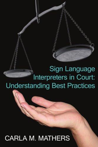 Sign Language Interpreters in Court Und  2006 edition cover