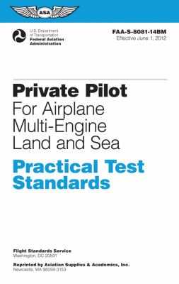 Private Pilot for Airplane Multi-Engine Land and Sea  N/A edition cover