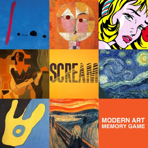 Modern Art Deluxe Memory Game   2010 9781934429419 Front Cover