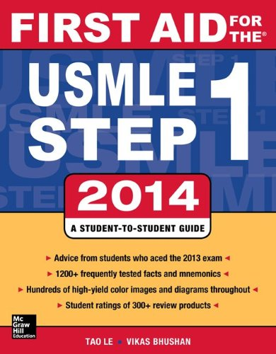 First Aid for the USMLE Step 1 2014  24th 2014 edition cover