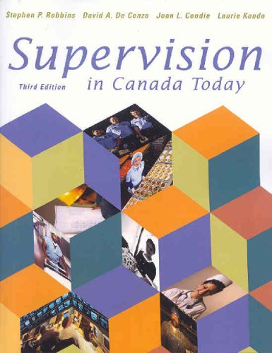 SUPERVISION IN CANADA TODAY 3rd 2002 edition cover