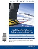 Finite Mathematics and Calculus With Applications: Books a La Carte Edition  2016 9780133863420 Front Cover