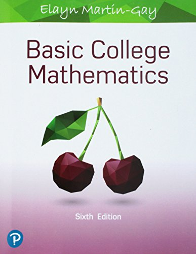 BASIC COLLEGE MATHEMATICS               N/A 9780134840420 Front Cover