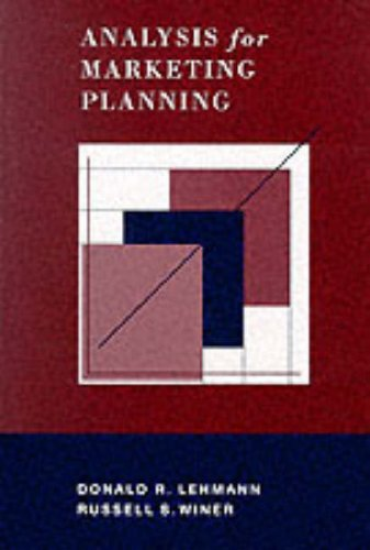 Analysis for Marketing Planning 4th 1997 9780256214420 Front Cover