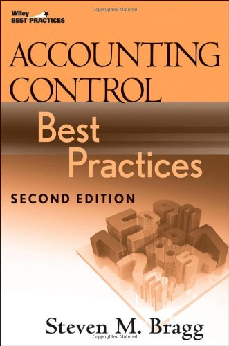 Accounting Control Best Practices  2nd 2009 edition cover