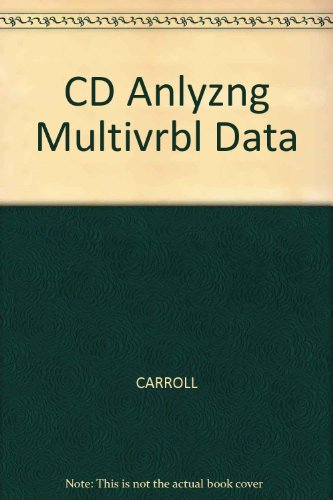 Analyzing Multivariate Data   2003 9780534462420 Front Cover