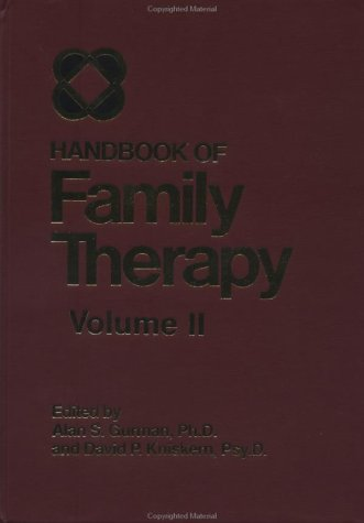 Handbook of Family Therapy   1992 edition cover