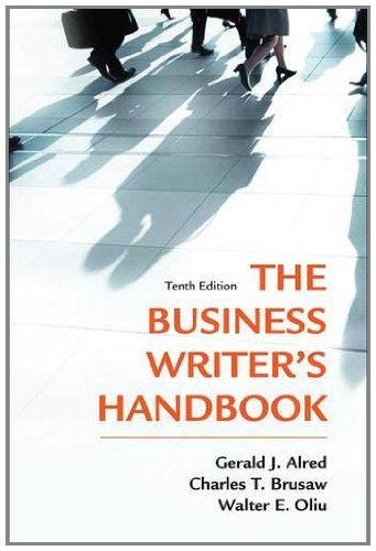 Business Writer's Handbook  10th 2012 (Revised) edition cover