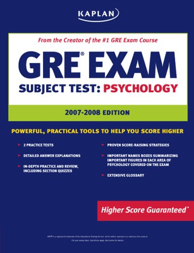 Kaplan GRE Exam Subject Test: Psychology 3rd 2006 edition cover