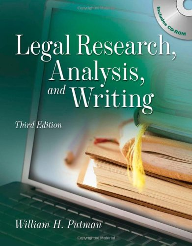 Legal Research, Analysis and Writing  2nd 2010 edition cover