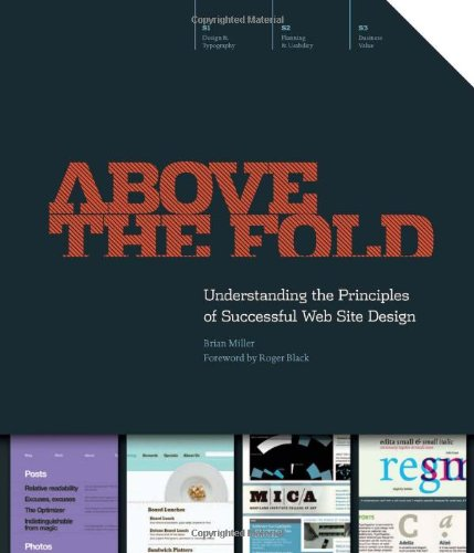 Above the Fold Understanding the Principles of Successful Web Site Design  2011 edition cover