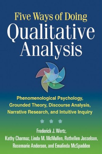 Five Ways of Doing Qualitative Analysis Phenomenological Psychology, Grounded Theory, Discourse Analysis, Narrative Research, and Intuitive Inquiry  2011 edition cover