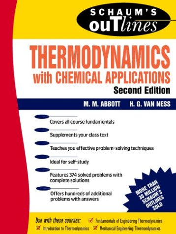Schaum's Outline of Thermodynamics with Chemical Applications  2nd 1990 (Revised) 9780070000421 Front Cover