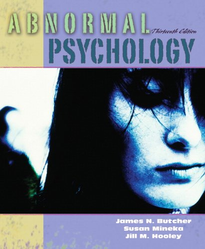 Abnormal Psychology Core Concepts 13th 2007 (Revised) edition cover