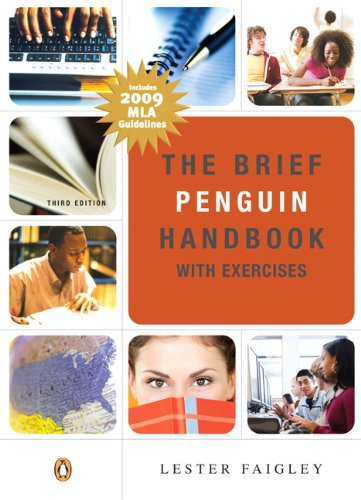 Brief Penguin Handbook with Exercises MLA Update 3rd 2009 edition cover
