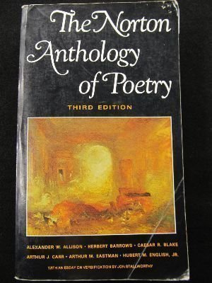 Norton Anthology of Poetry 3rd 1983 edition cover