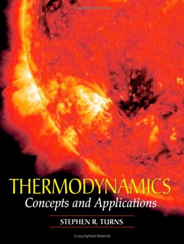 Thermodynamics Concepts and Applications  2006 edition cover