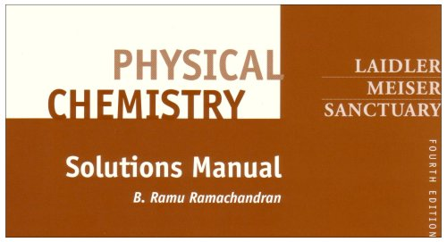 Physical Chemistry Solutions Manual 4th 2003 9780618123421 Front Cover