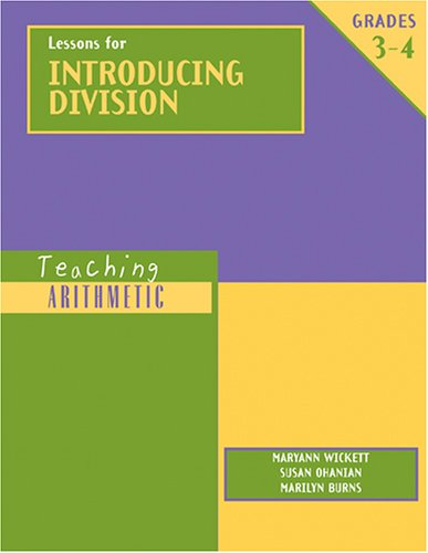 Lessons for Introducing Division   2002 edition cover