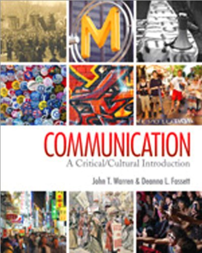 Communication A Critical/Cultural Introduction  2011 edition cover