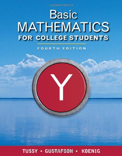 Basic Mathematics for College Students  4th 2011 edition cover