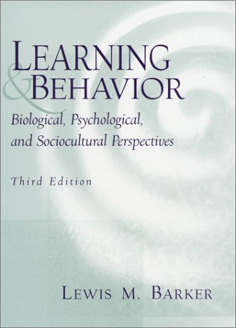 Learning and Behavior Biological, Psychological and Sociocultural Perspectives 3rd 2001 edition cover