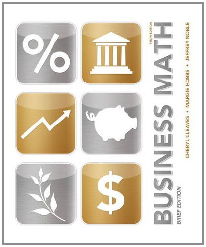 Business Math Brief  10th 2014 edition cover