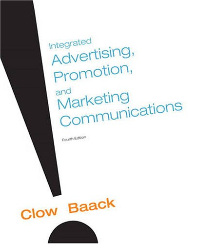 Integrated Advertising, Promotion and Marketing Communications  4th 2010 edition cover