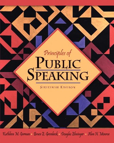Principles of Public Speaking  16th 2007 edition cover