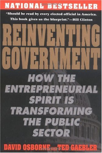 Reinventing Government The Five Strategies for Reinventing Government  1993 edition cover