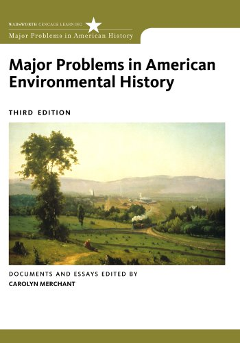 Major Problems in American Environmental History  3rd 2012 edition cover
