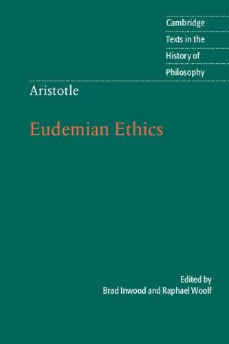 Aristotle: Eudemian Ethics   2012 edition cover