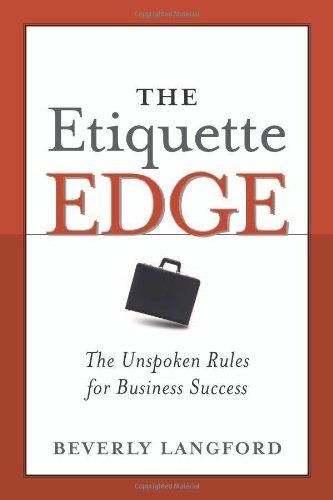 Etiquette Edge The Unspoken Rules for Business Success  2005 edition cover