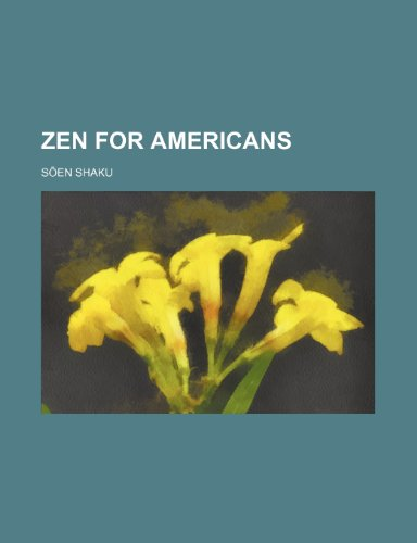 Zen for Americans N/A 9781231232422 Front Cover