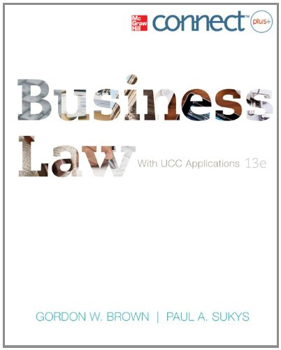 Business Law with Connect Plus  13th 2013 edition cover