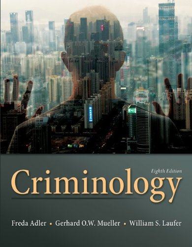 Criminology  8th 2013 edition cover