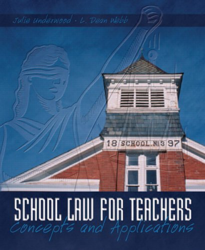 School Law for Teachers Concepts and Applications  2006 edition cover