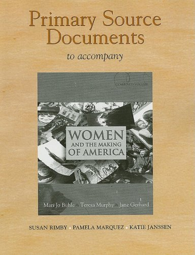 Documents Collection for Women and the Making of America   2009 edition cover