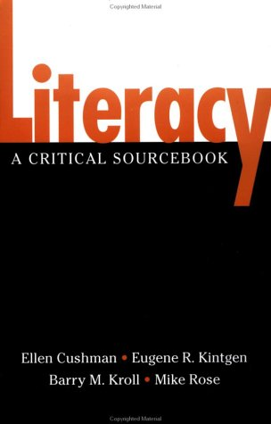 Literacy A Critical Sourcebook  2001 edition cover