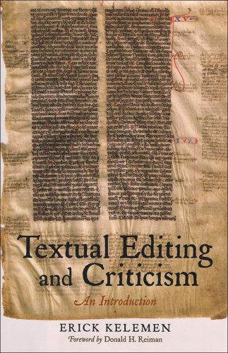 Textual Editing and Criticism An Introduction  2008 edition cover