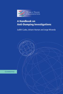 Handbook on Anti-Dumping Investigations   2003 9780521830423 Front Cover
