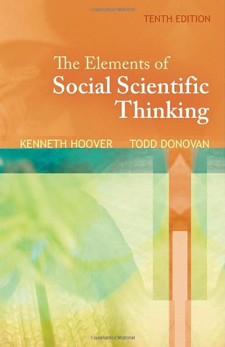 Elements of Social Scientific Thinking  10th 2011 edition cover